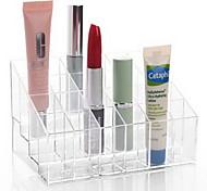 Недорогие -Ванная комната гаджетакриловый макияж хранение акрил прозрачный 24 решетки 14,5 * 9,5 * 7,5 косметика хранение туалет пластик