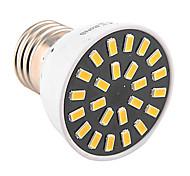 Недорогие -1шт 4 Вт. 400-500 lm E26/E27 Точечное LED освещение MR16 24 светодиоды SMD 5733 Декоративная Тёплый белый Холодный белый AC 110-130 В AC