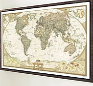 1Pcs 70Cm*52Cm Vintage Retro Matte Kraft Paper World Map Antique Poster Wall Sticker Home Decor Not Including Frame