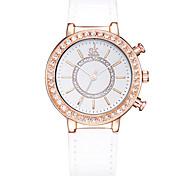 SK Женские Нарядные часы Модные часы / Кварцевый PU Группа Повседневная Элегантные часы Белый Серебристый металл Красный