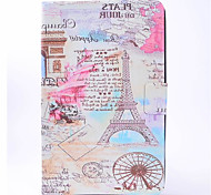 cheap -Case For Samsung Galaxy Tab A 9.7 Tab A 8.0 Card Holder Auto Sleep / Wake Embossed Full Body Cases Eiffel Tower Hard PU Leather for Tab E