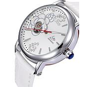 Men's Sport Watch Dress Watch Skeleton Watch Fashion Watch Wrist watch Mechanical Watch Automatic self-winding Genuine Leather Band Charm