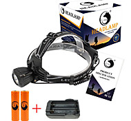 U'King Headlamps Headlight LED 2000 lm 3 Mode Cree XM-L T6 with Batteries and Charger Compact Size Easy Carrying High Power Multifunction