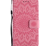 For Sony Xperia E5 X XA XP PU Leather Material Sun Flower Pattern Embossed Phone Case M5 M4 M2 Z5 Z4 Z3 Z5 Mini Z4 Mini Z3 Mini