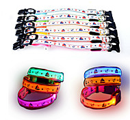 Dog Collar LED Lights Adjustable / Retractable Reflective Strobe/Flashing Safety Cartoon Stars Plastic Nylon Mesh