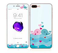для Apple Iphone 7 плюс 5,5 закаленного стекла с мягким краем передней полный охват экрана и любителей китов задний протектор экрана
