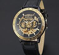 cheap -Men's Automatic self-winding Mechanical Watch Wrist Watch Skeleton Watch Sport Watch Casual Watch Genuine Leather Band Charm Luxury