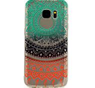 para samsung S8 galáxia mais s7 rendas arco-íris padrão de impressão macio TPU caso de telefone material de S6 S8
