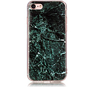 Marble Dark Green Pattern Soft TPU Phone Case Cover for iPhone 5 55 SE 6 6 Plus 7 7 Plus
