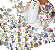1Bag 400-500pcs SS3-SS16 Mixed Size Nail AB Rhinestone New Nail Art Glitter Sparkling Shiny Rhinestone Nail Art Bling Bling Decoration Rhinestone