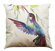 "Set of 6 Ink Bird Pattern Linen Cushion Cover Home Office Sofa SquareDecorative (18""*18"")"