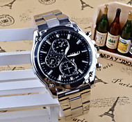 Men's Fashion Watch Dress Watch Quartz Stainless Steel Band Charm Casual Silver