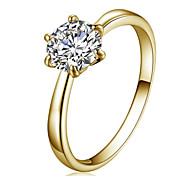 cheap -Women's Ring Crystal Gold Crystal Zircon Cubic Zirconia Austria Crystal Imitation Diamond Alloy Star Fashion Simple Style Party Daily