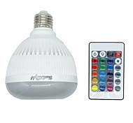 4W E26 E27 Bombillas LED Inteligentes 350 lm RGB K Bluetooth Regulable Control Remoto V