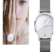 Women's Dress Watch Fashion Watch Wrist watch Bracelet Watch Quartz Colorful Large Dial Stainless Steel Band Vintage Dot Rainbow Pearls
