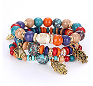 cheap -Women's Ball Strand Bracelet - Personalized Natural Multi Layer Rainbow Red Blue Bracelet For Christmas Gifts Party Anniversary