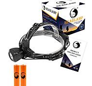 U'King Налобные фонари Налобный фонарь Светодиодная лампа 2000 lm 3 Режим Cree XM-L T6 с батарейками Компактный размер Простота