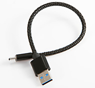 cheap -USB 2.0 Type-C USB Cable Adapter Braided Cable For Samsung Huawei LG Nokia Lenovo Motorola Xiaomi HTC Sony 20 cm Nylon