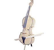 Jigsaw Puzzles Wooden Puzzles Building Blocks DIY Toys Violoncello 1 Wood Ivory Model & Building Toy
