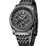 MEGIR Men's Sport Watch Dress Watch Skeleton Watch Fashion Watch Wrist watch Quartz Calendar / date / day Alloy Band Charm Casual