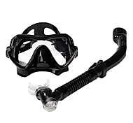 cheap -Diving Mask Snorkels Swim Mask Goggle Snorkel Set Dry Top Diving / Snorkeling Glass silicone-SBART