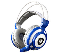 Sades sa-905 Vibrationsfunktion tiefe Bässe fone de ouvido Pro-Gaming-Kopfhörer 7 Farb-LED-Spiel-Kopfhörer mit Mikrofon für PC Gamer