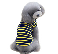 Dog Shirt / T-Shirt Vest Dog Clothes Cute Sports Fashion Stripe Yellow Red Green Costume For Pets