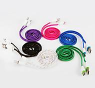 Недорогие -USB 2.0 Тип C Плоские Плетение Кабели Назначение Samsung Huawei Sony Nokia HTC Motorola LG Lenovo Xiaomi 100 cm Нейлон