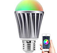 cheap -Smart LED E27 Bulb Bluetooth 4.0 RGBW Light Water Resistance / Dimmable / Timing / APP Remote Control / Sleeping Mood Lamp / Energy Saving