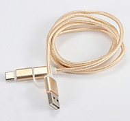 USB 2.0 Micro USB Type C Braided Cable For Samsung Huawei Sony Nokia HTC Motorola LG Lenovo Xiaomi 100 cm Nylon