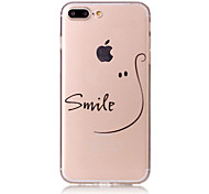 For iPhone X iPhone 8 Case Cover Pattern Back Cover Case Word / Phrase Soft TPU for Apple iPhone X iPhone 8 Plus iPhone 8 iPhone 7 Plus