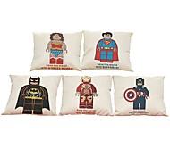 """набор из 5 капитан америки spide-man сверхчеловек batman железный человек напечатал крышку подушки (18 """"* 18"""")"""