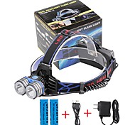 U'King Headlamps Headlight LED 4000 lm 3 Mode Cree XM-L T6 with Batteries and Charger Compact Size Emergency Mobile Power Supply Easy