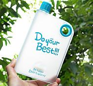 Novidades Áspero Artigos para Bebida, 400 ml Anti-Vazamento Livre de BPA Plástico Suco Garrafas de Água