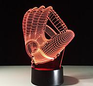 1piece 3d голограмма иллюзия пальмовое ночной свет светодиодные настольные лампы с изменением цвета атмосферы лампы с USB-зарядное