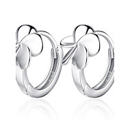 cheap -Women's Flower Sterling Silver Hoop Earrings - Floral / Flower Style / Flowers Silver Earrings For Wedding / Party / Daily