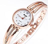 cheap -Women's Small Metal Chain Set Auger Literally Stainless Steel Strap British Wind Litchi Grain Quartz Watch