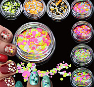 cheap -12bottles/set Fashion Nail Art Glitter Colorful Round Thin Paillette Sparkling Slice Beautiful Design Nail Art DIY Decoration P25-36