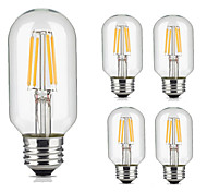 cheap -5pcs 4W 360lm lm E26/E27 LED Filament Bulbs T45 4pcs LED Beads COB Decorative Warm White Cold White 220-240V