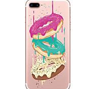 Недорогие -Для Прозрачный С узором Кейс для Задняя крышка Кейс для Продукты питания Мягкий TPU для AppleiPhone 7 Plus iPhone 7 iPhone 6s Plus iPhone