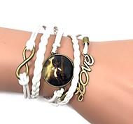 Недорогие -Кожаные браслеты Wrap Браслеты Богемные Ручная Pабота Кожа Лошадь Животный принт LOVE Бижутерия Годовщина День рождения Подарок Спорт