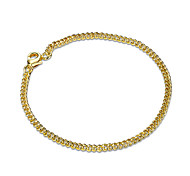 Women's Girls' Chain Bracelet Crystal Friendship Fashion Gold Plated Geometric Jewelry For Wedding Party Special Occasion Anniversary