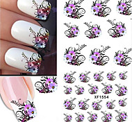 10pcs/set Hot Sale Sweet Style Beautiful Flower Design Nail Art Water Transfer Decals Nail Beauty Sticker DIY Beauty Decals XF1554