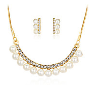 cheap -Women's Jewelry Set Imitation Pearl Rhinestone Gold Plated Alloy Others Classic Fashion Party Gift Daily Office & Career 1 Necklace 1