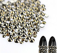 500pcs/bag Mixed Size New Nail Art DiY Decoration Sparkling Gray Mine Rhinestone Jet Hematite Decoration Glitter Rhinestone