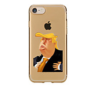 cheap -For Transparent Pattern Case Back Cover Case Cartoon Trump Soft TPU for IPhone 7 7 Plus iPhone 6s 6 Plus iPhone 6s 6 iPhone 5s 5 5E 5C 4 4s