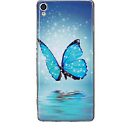 cheap -Case For Sony Sony Xperia XA Glow in the Dark IMD Pattern Back Cover Butterfly Soft TPU for Sony Xperia XA Sony