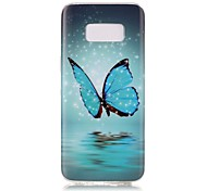 For Samsung Galaxy S8 Plus S8 Case Cover Butterfly Pattern Luminous TPU Material IMD Process Soft Case Phone Case S7 S6 (Edge) S7 S6 S5
