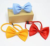 Недорогие -Кошка Собака Рождество пояс/Бабочка Одежда для собак Английский Желтый Красный Синий Розовый Черный Терилен Костюм Для домашних животных