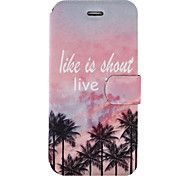 For Wiko Lenny3 Wiko Jerry Case Cover Coconut Tree Pattern Painted PU Material Card Holder Mobile Phone Holster Phone Case